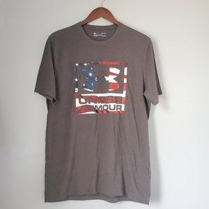 Underarmour flag tee shirt loose fit